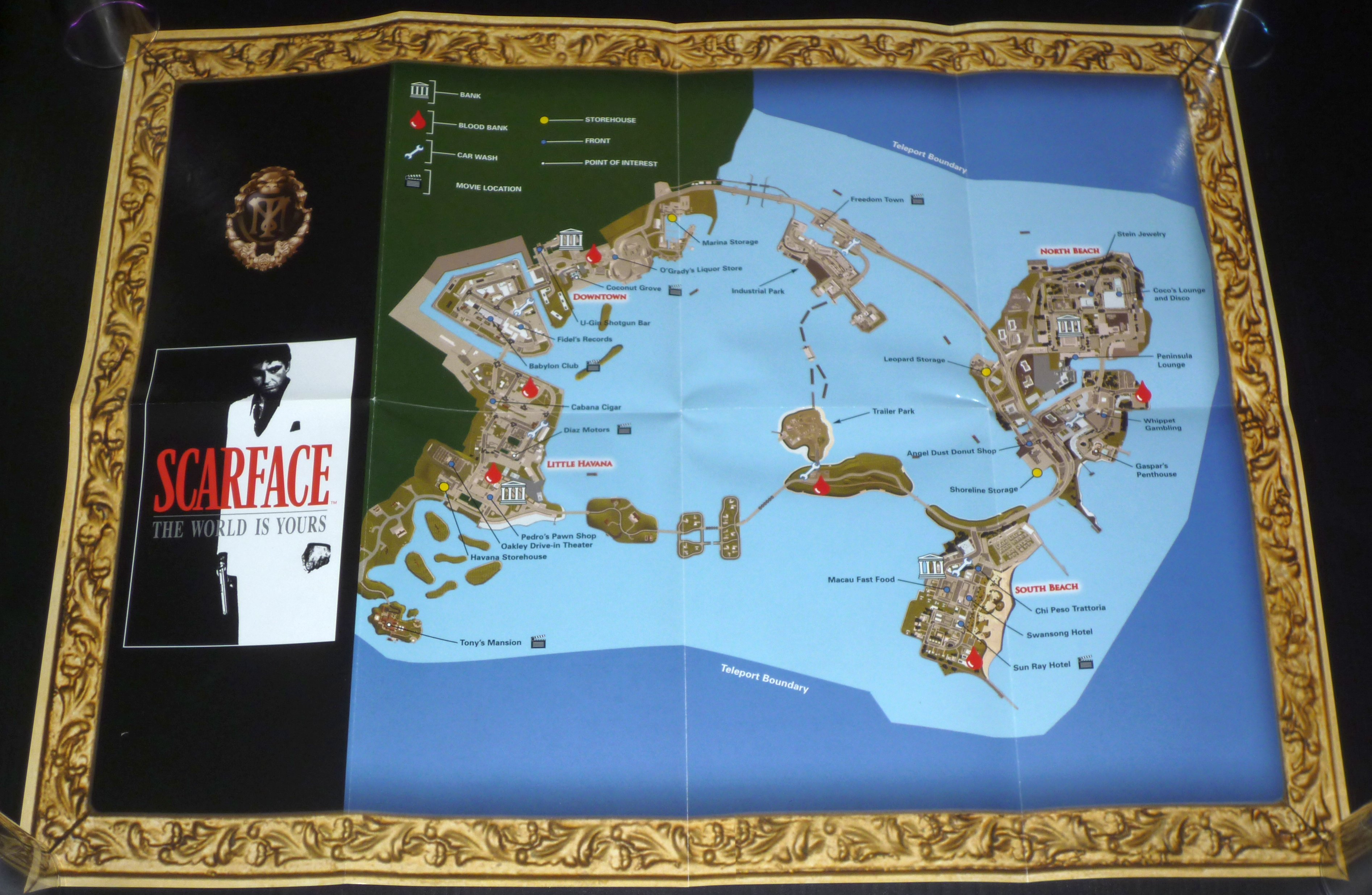 Scarface The World is Yours – Collector's Edition   PS2museum on red river world map, guy world map, saigon world map, jurassic park world map, morocco world map, conan the barbarian world map, juarez world map, future world map, casino world map, detailed world map, tobruk world map, nivea world map, lord of the rings world map, wolf world map, city lights world map, algiers world map, simpsons world map,