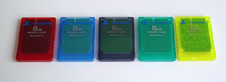 PS2 Memory Card transparent series